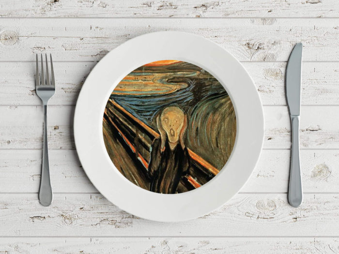 plate with munch