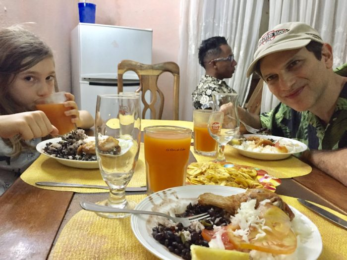 Eating with the locals in Cuba
