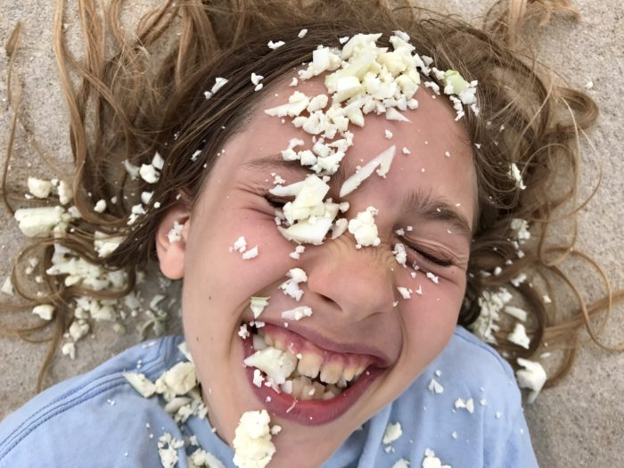 Cauliflower face mask