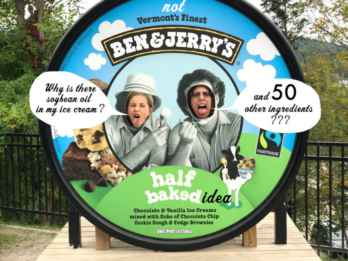 Ben and Jerry's unnatural ice cream