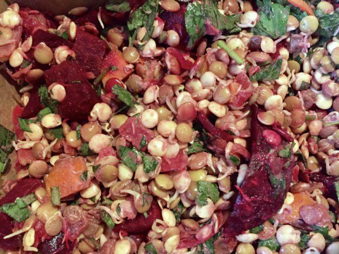 lentil beet salad