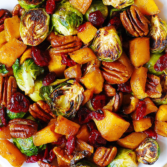 Butternut Squash Salad with Cranberries