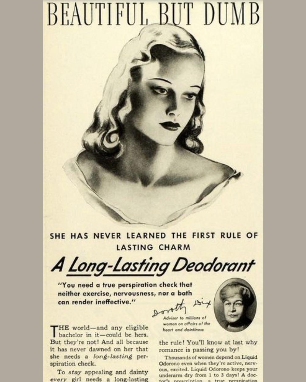 vintage deodorant ad