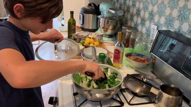 Chef SizzleSnap Sautéing Bok Choy