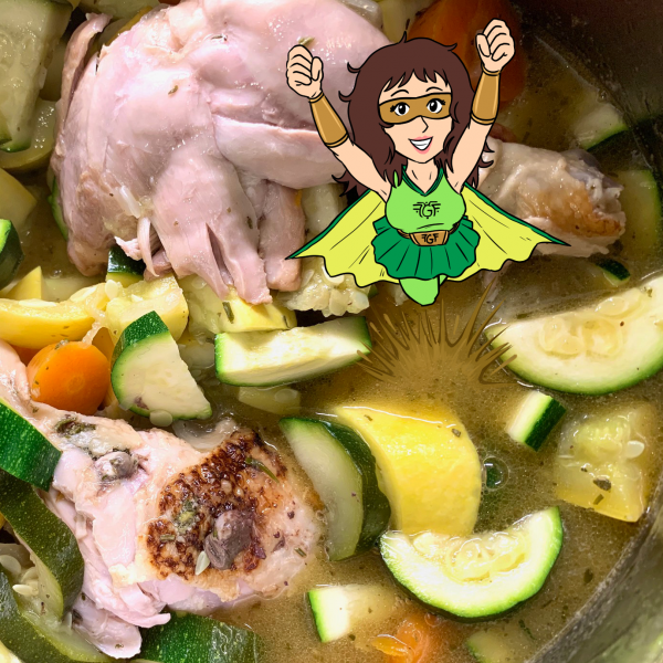 Quarantine Cooking: Squashy Chicken for Squash-hating Kids in a buttery balsamic broth