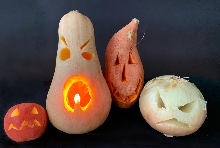 carving fall veggies